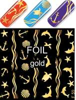Water Decal F059 gold