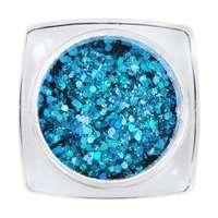 Hexagon Glimmer Mix 4 - Light-Blue