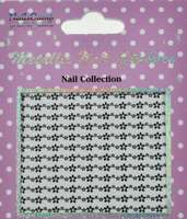 Metallic Nail Sticker Marguerites Silver