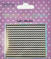 Metallic Nail Sticker Stars Gold