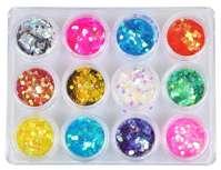Kit de paillettes hexagone - 12 couleurs