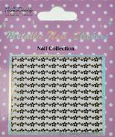 Metallic Nail Sticker Marguerites Gold