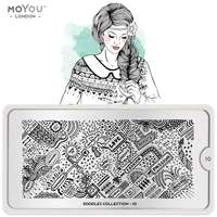 Plaque Stamping Doodles 10 - MoYou London