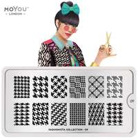Plaque Stamping Fashionista 09 - MoYou London