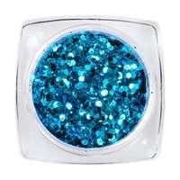Hexagon Glimmer Mix 9 Blue