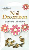 Nail Decoration Inlay Note gold/clear