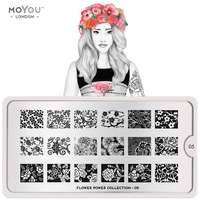 Plaque Stamping Flower Power 05 - MoYou London